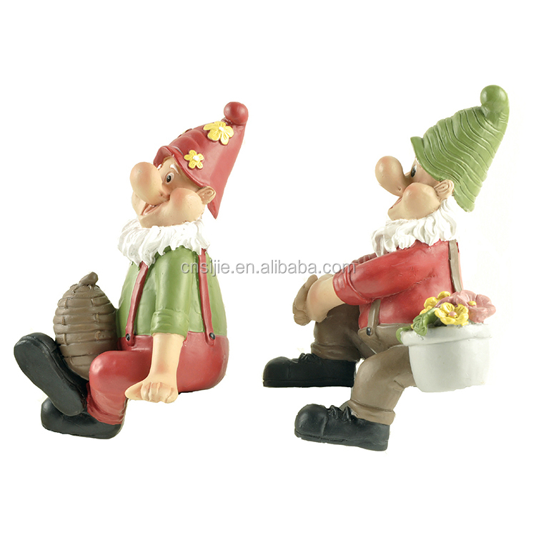 Custom Resin Wholesale Funny Garden Gnomes Statues for Home Decoration