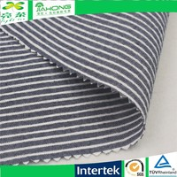 China textile cotton polyester stripe seersucker fabric with spandex