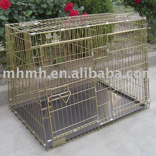 "36"" Two Door Folding Metal Dog Crate Cage Kennel with Divider"