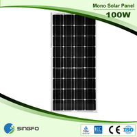 top supplier flexible pv solar panel 100w the lowest price