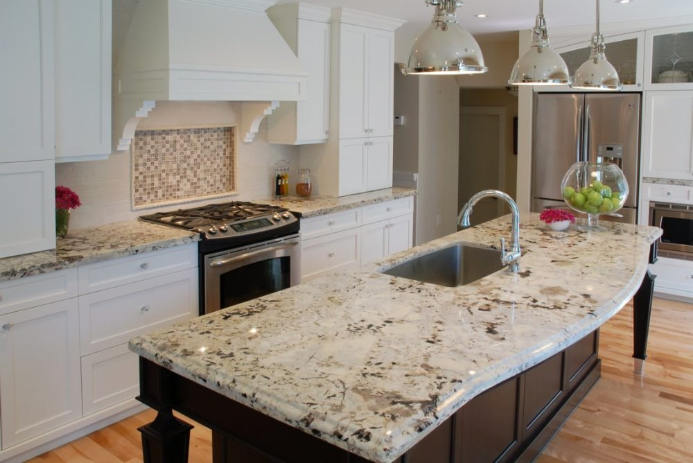modern kitchen designs white rose granite countertop with great price