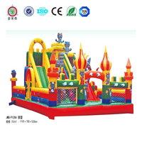 2016 New inflatable amusement park, inflatable jumping fun city, mickey park inflatable