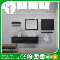 PVC front black modern plastic bathroom cabinets