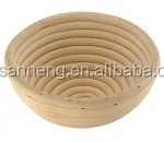 China Famous Branded Round Handmade Natural Color Rattan Proving Basket