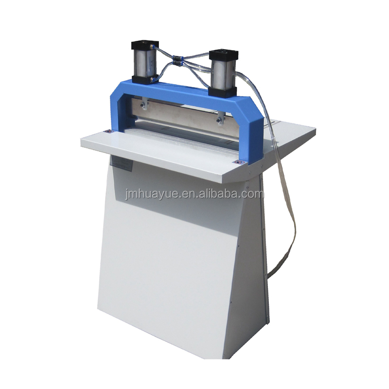 Pneumatic creasing album pleating machine
