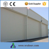 Automatic insulated aluminum rolling up door with PU foam inserts/roller shutter door