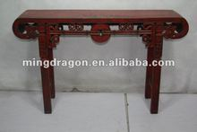 chinese antique wooden red carved alter table
