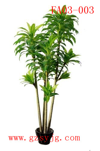 2016 Stock hot sale plastic green cornstalk dracaena fake Corn Plant/bonsai artificial plant decoration for sale