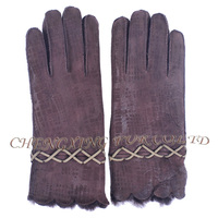 CX-A-59F Fashion Winter Warm Genuine Double Face Sheep Leather Women Glove