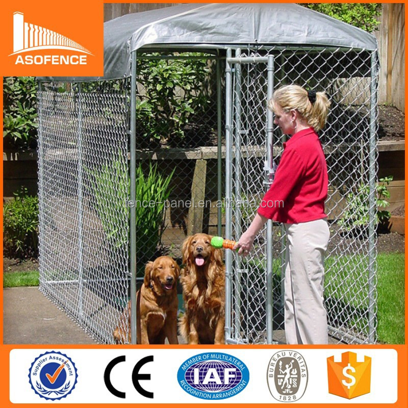 Best selling high quality 6x10x6 galvanized metal dog kennels