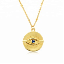925 sterling silver gold plated evil eyes talisman pendants