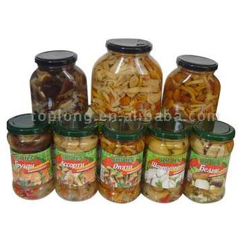 Jars mushrooms in Marinade(canned mushrooms)