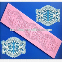 6 butterfly shape long silicone lace mould cake decorating tools