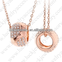 Bulk Wholesale Cheap Bulk Jewelry Round with Hole Girls Jewelry Pendant Necklace