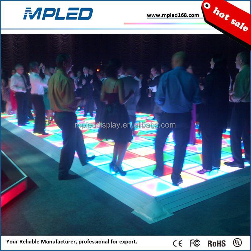 P10 night club disco portable led dance floors support for 100 person at the same moment