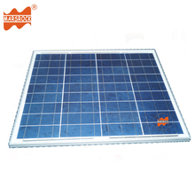 50W 18V tempered glass laminated polycrystalline solar panel