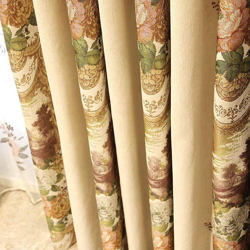 New coffee stripes polyester jacquard design living room curtains,luxury curtains and drapes european style