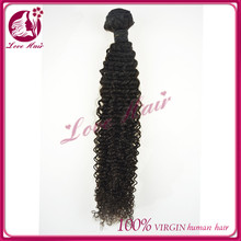 Pretty natural ! qingdao love hair company kinky curl sew in hair weave bnrazilian golden person hair extensions