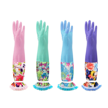 Zero Winter Warm Kitchen Wash Dishes Cleaning Waterproof Long Sleeve Rubber Gloves