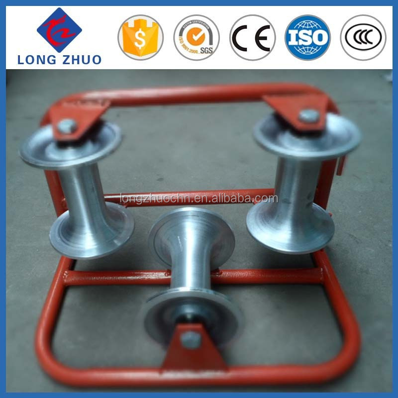 Nylon and Aluminium Triple Cable Roller,Three Wheel Corner Cable Puller