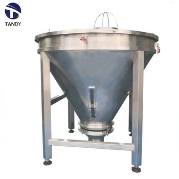 Industrial stainless steel coin hopper