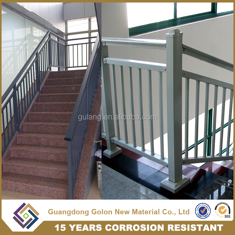 Cheap price wrought iron railing parts,outdoor and indoor stair railings,outdoor staircase for sale