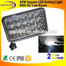 Warranty 2 year IP68 12V 24V Epistar high efficiency off road 45w led work light