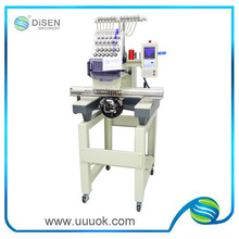 Single head embroidery machine with 12 needles