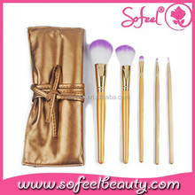 sofeel 5piece two color hair cosmetic brush two faced makeup