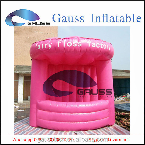 Trade show inflatable booth/commercial inflatable red tent