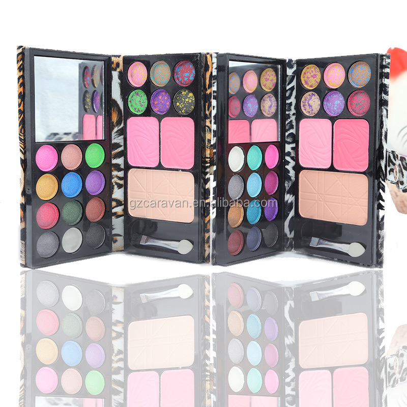 New pantherine eyeshadow and blush pallete in leather book