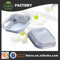 Clear plastic food disposable aluminum container