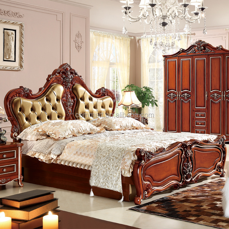2016 classic design bedroom furniture french bedroom sets with wardrobe
