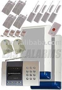 Complete Wireless Alarm Kit with glass sensors and 2 alarm boxes (K5)