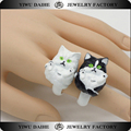 Daihe cute jewelry Persian cat animal shaped rings