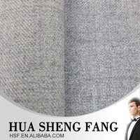High Quality Grey Worsted Flannel Merino 100 Wool Suits Fabrics