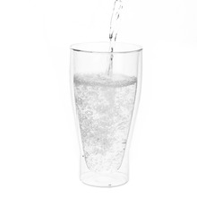 wholesales double wall glass Clear and Durable borosilicate glass cup