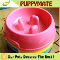 Heavy PP Slow Easting Feeder Dog Pet Bowl, high quality PP pet feeder