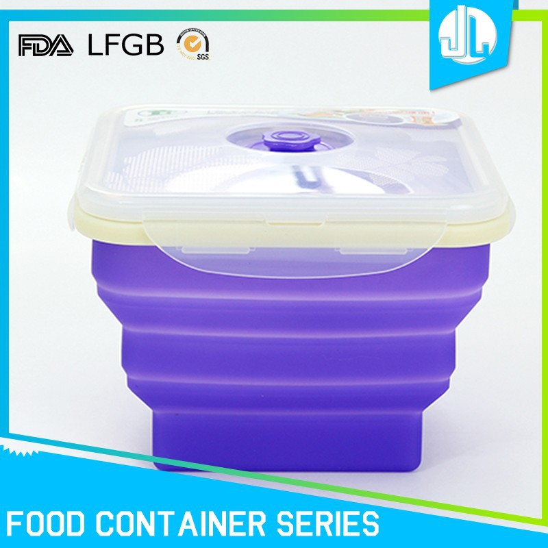 Factory price silicone foldable lunch boxes