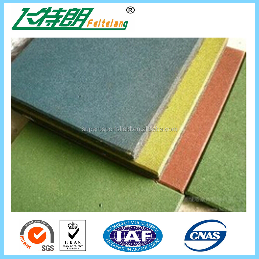 Wearing Resistant Rubber Tile Interlocking Rubber Tiles
