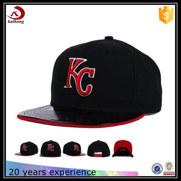 Fashion Funny Custom Sandwich Bill Leather Snapback Cap Hat