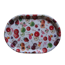 Most beautiful fruit decor oval shaped plastic charger plates