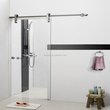 Frameless Single Tempered Glass Bathroom Sliding Shower Door