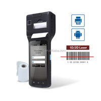"cilico 5"" HD display smart printer pos pda with laser barcode scanner"