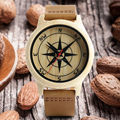 Mens compass ahornholz watch 2017 wood watch