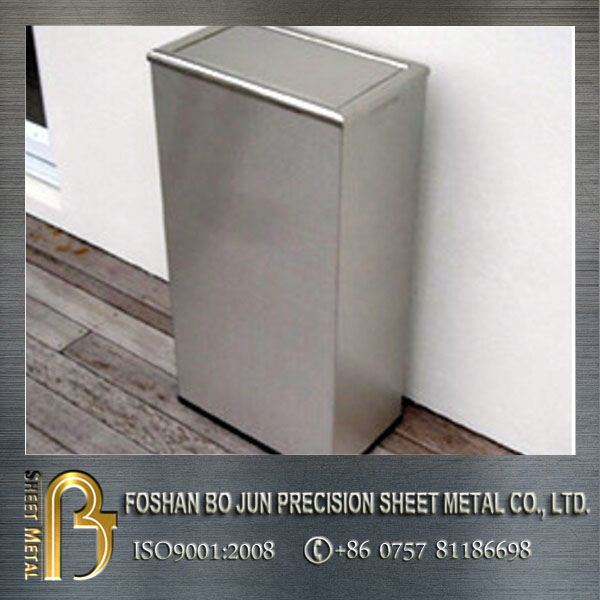 Stainless steel bin kitchen recycle rubbish trash dust stainless steel rubbish bin