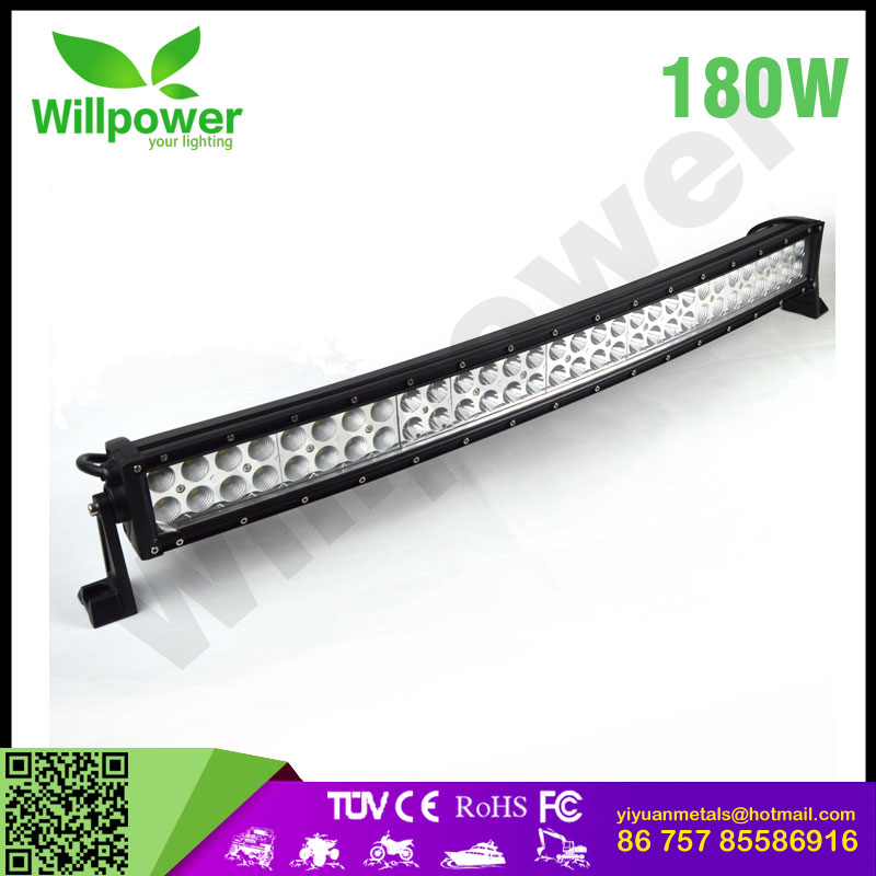"New!led auto lights 32""inch 180w combo 4x4 Cre e Led Car Light, Curved Led Light bar Off road,auto led light arch bent"