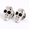 sliver black eye cufflinks skull