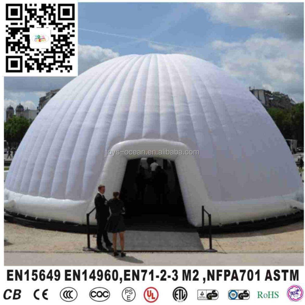 Inflatable dome air tent inflatable igloo tent inflatable giant exhibition commerical dome