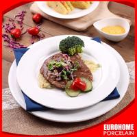 chaozhou hotel restaurant airline event different dinner use high quality white closeout porcelain plate
